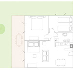 planimetry -  3 rooms Apartment  superior